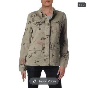 NWT Aqua military floral jacket boho utility army
